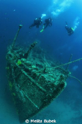 Raid on Lina :-)...wreck Lina nearby island Cres, 26-55m ... by Melita Bubek 